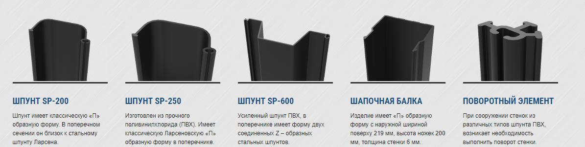 ПВХ шпунт в Санкт-Петербурге и Ленинградской области